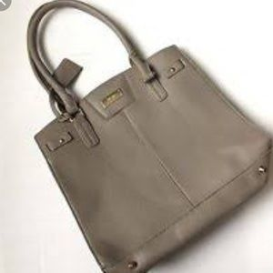 BCBG LEATHER TOTE BAG